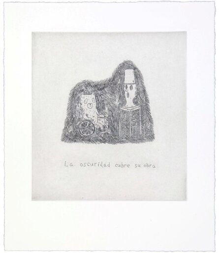 Atsushi Kaga, 'The darkness cover his work', 2014