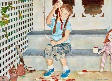 John Philip Falter, 'Girl Peeling Apple, Johnson & Johnson Advertisement, 1959', 1959