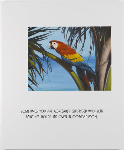 Jonathan Monk, 'Parrot Painting 03 (Sometimes you are agreeably surprised when your painting holds its own in comparison)', 2008