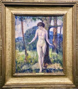 Leon Kroll, 'Nude Stepping into the Water', ca. 1919
