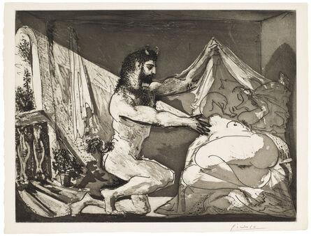 Pablo Picasso, 'Faune dévoilant une femme, from La Suite Vollard', 1936