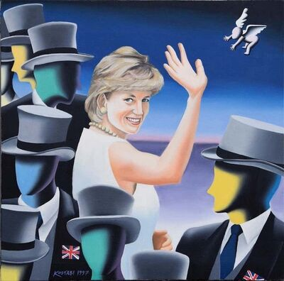 Mark Kostabi, 'Fare Thee Well And If Forever', 1997