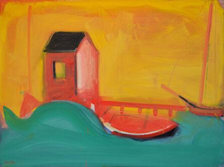 Paul Resika, 'Green Wave & Pier', 1991