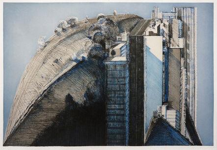 Wayne Thiebaud, 'Dark Country City', 1988
