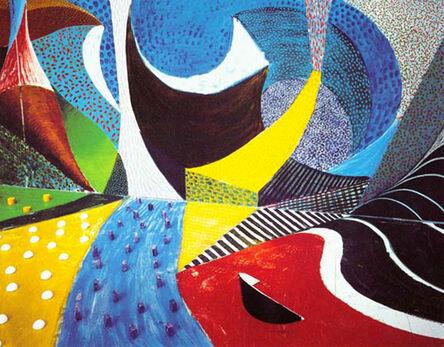 David Hockney, 'Third Detail March 25th, 1995', 1995