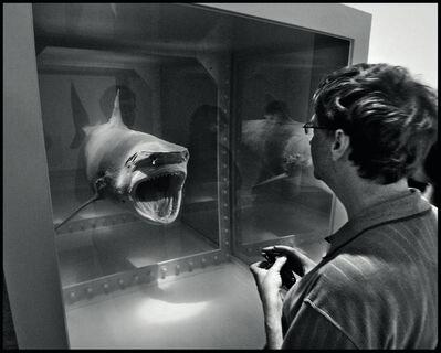 Jean Pigozzi, 'Bill Gates with Damien Hirst's shark, Metropolitan Museum of Art, New York City, USA, 2007', 2007