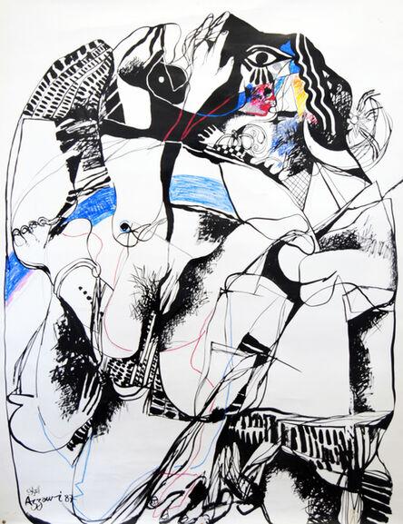 Dia Azzawi, 'Gilgamesh 1 - Enkido meets the Great Courtisane', 1987