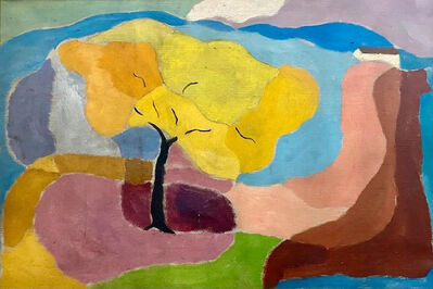 """James Daugherty, '""""Summer Breeze"""" Oil Painting 50s Mid-Century Abstract Realism Modernism Landscape', ca. 1950"""