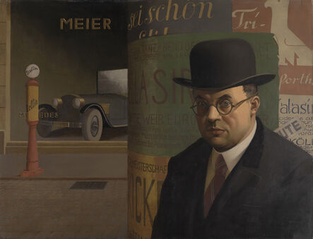 Georg Scholz, 'Self-Portrait in Front of an Advertising Column (Selbstbildnis vor der Litfaßsäule)', 1926