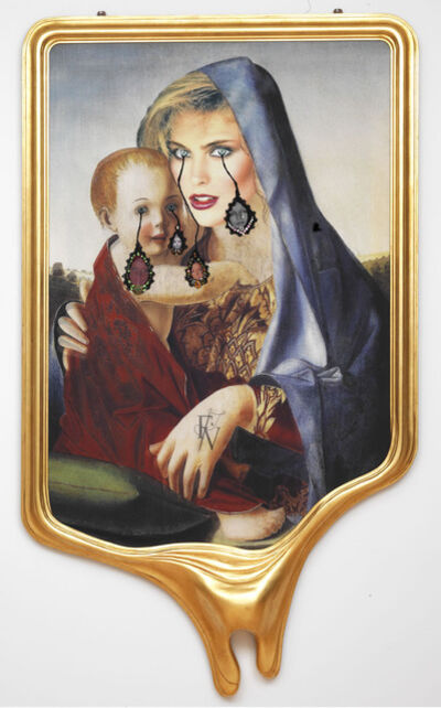 Francesco Vezzoli, 'CRYING PORTRAIT OF KIM ALEXIS AS A RENAISSANCE MADONNA WITH HOLY CHILD (AFTER GIOVANNI BELLINI)', 2010