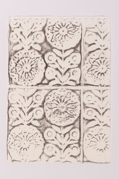 Scoli Acosta, 'Swiss Hotel Toilet Tile Rubbing', 2016