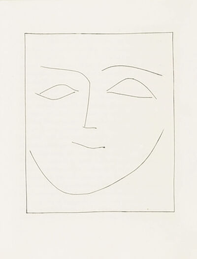 Pablo Picasso, 'Square Head of a Woman Half Smiling (Plate XII)', 1949