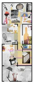 Joana P. Cardozo, 'Blueprint 26 - Casa Rosa Amarela', 2018