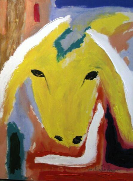 Menashe Kadishman, 'Yellow Sheep Portrait '