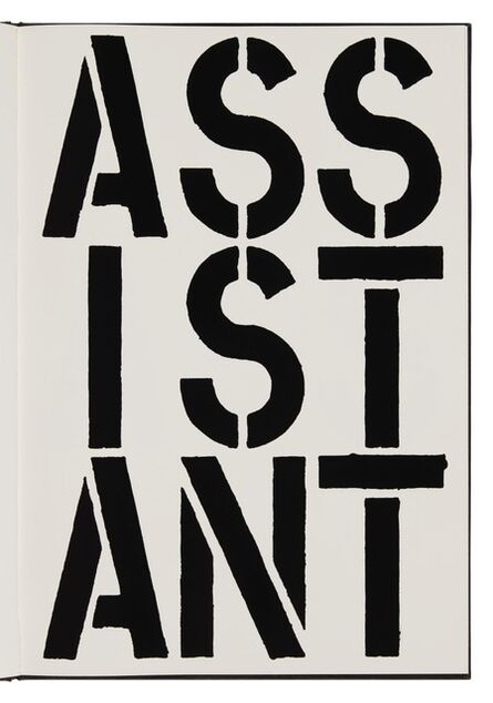 Christopher Wool, 'Assistant (page from Black Book) ', 1989