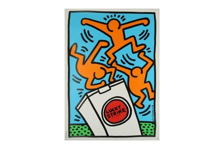 Keith Haring, 'Lucky Strike It's Toasted (Blue)'