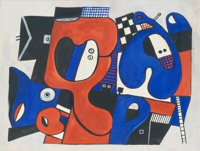 José Gurvich, 'Blue and orange New York', 1973