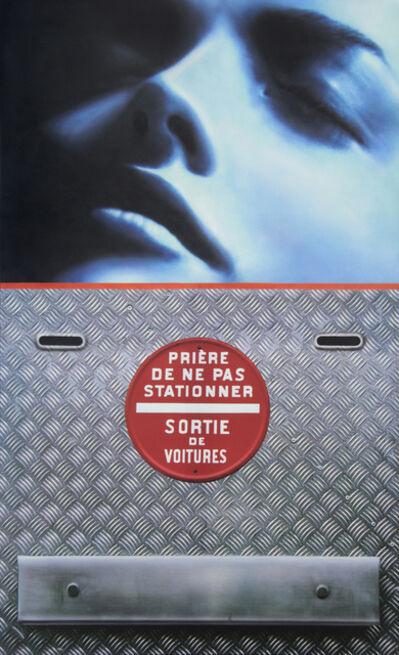 Peter Klasen, 'visage bleu/sortie de voitures - 2 bouches d'aération ', 2009