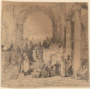 Elihu Vedder, 'Study after Old Master', ca. 1858