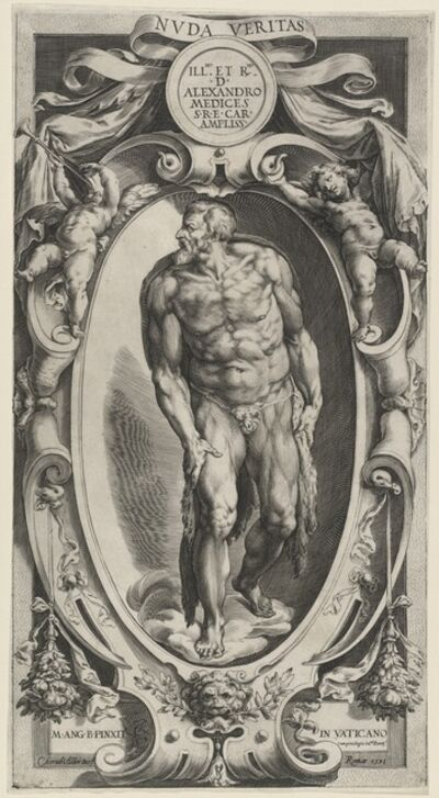Cherubino Alberti after Michelangelo, 'Saint John the Baptist', 1591