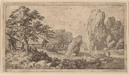 Allart van Everdingen, 'Pointed Boulder at the Bank of a River', probably c. 1645/1656