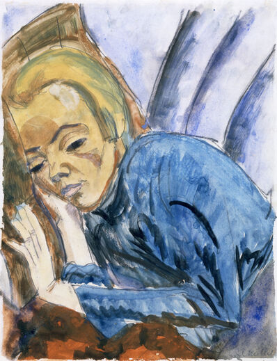 Erich Heckel, 'Resting Woman (Siddi Heckel)', 1913