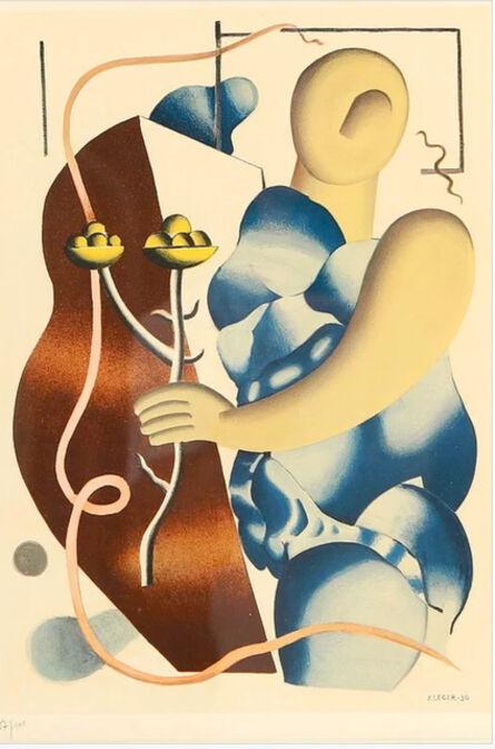 Fernand Léger, 'La femme tenant une fleur', 1955