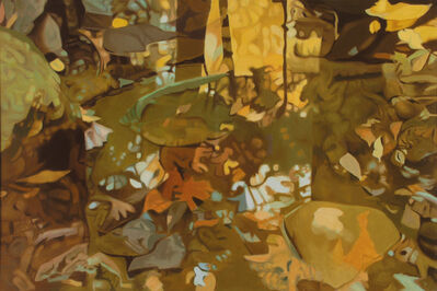 Ralph Wickiser, 'Yellow Leaf  Reflections', 1981
