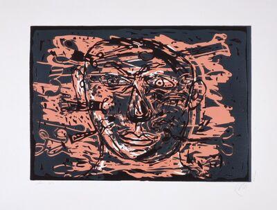 """Markus Lüpertz, 'Der Schneckensucher (from the portfolio """"Lettre Internationale"""")', 1992"""