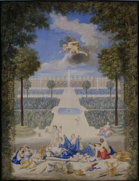 Jean Cotelle, 'Vue des parterres du Grand Trianon avec Flore et Zephyr (View of the Grand Trianon with Flora and Zephyr)', 1687