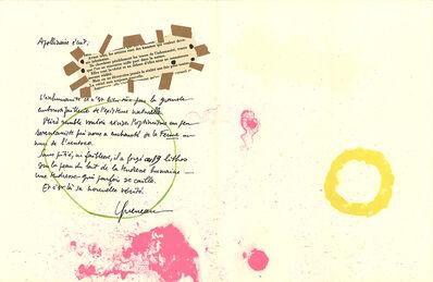 Joan Miró, 'Album 19 Original Lithographs Pages 7,8', 1961