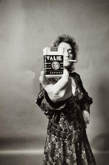 VALIE EXPORT, 'VALIE EXPORT - SMART EXPORT. Selbstportrait mit Zigarette [VALIE EXPORT - SMART EXPORT. Self-portrait with cigarette kit]', 1968