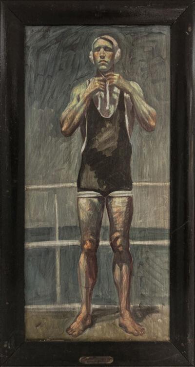 Mark Beard, '[Bruce Sargeant (1898-1938)] Captain John Barnes Readying for Waterpolo', n.d.