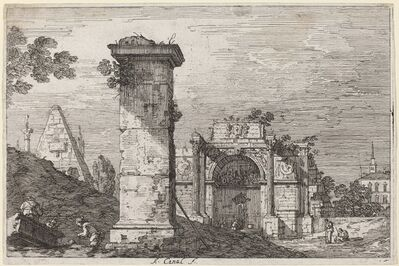 Canaletto, 'Landscape with Ruined Monuments', ca. 1735/1746