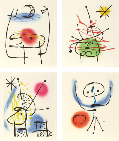 Joan Miró, 'La Bague d'aurore (The Ring of Dawn) (D. 122-125, 128, C. 45)', 1957