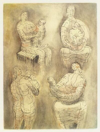 Henry Moore, 'Four Mother and Child Studies', 1976