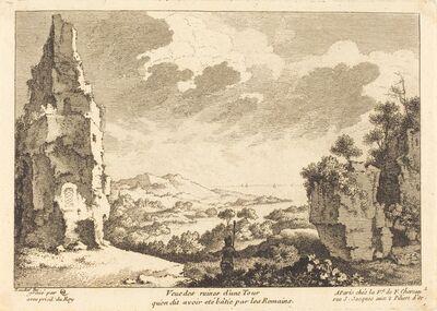 Quentin-Pierre Chedel after François Boucher, 'Veue des ruines d'une Tour qu'on dit avoir ete batie par les Romains'