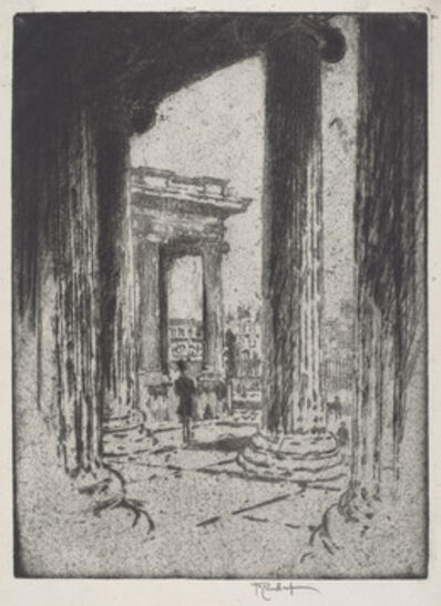 Joseph Pennell, 'The Portico, British Museum', 1905