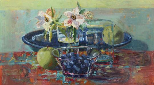 Carol Stewart, 'Hibiscus and Blueberries', 2020