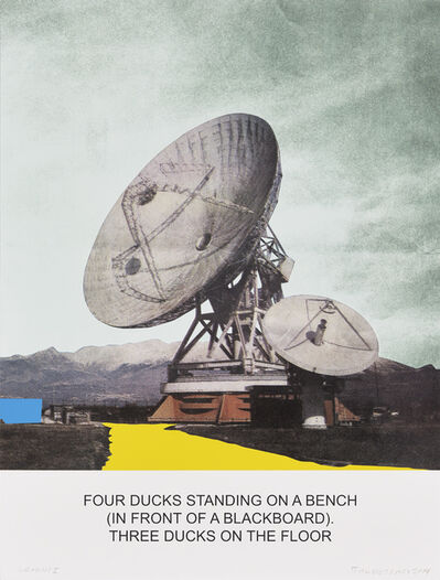 John Baldessari, 'The News: Four Ducks Standing on a Bench...', 2014