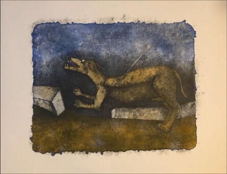 Rufino Tamayo, 'Wounded dog', 1989