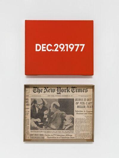 """On Kawara, 'DEC. 29, 1977 """"Thursday""""', 1966-2013"""