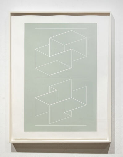 Josef Albers, 'White Embossing on Grey WEG', 1971