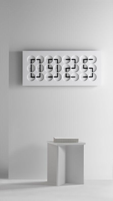 Humans Since 1982, 'ClockClock 24, white', 2016