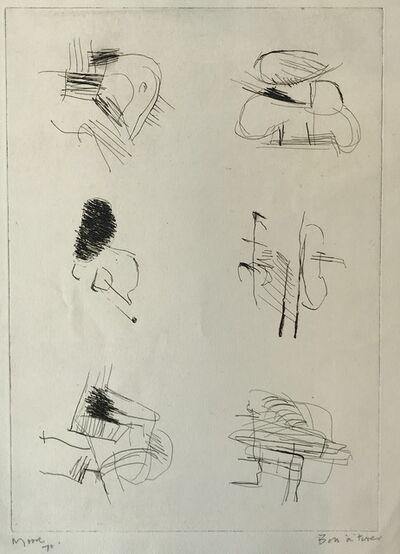 Henry Moore, 'Deconstructed Figures II', 1970