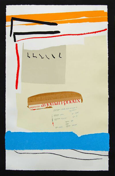 Robert Motherwell, 'America-La France Variations III', 1983-1984