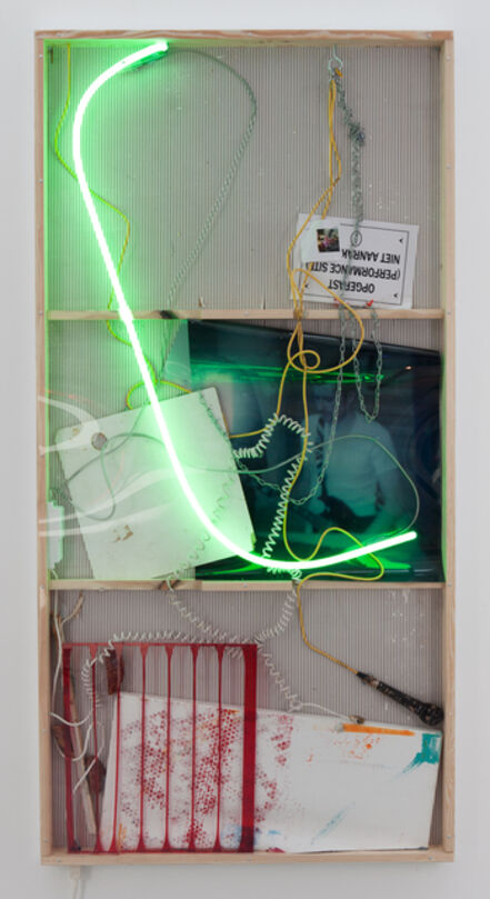 Joris Van de Moortel, 'Narrations that drip out of these two (or more) elements fighting each other', 2015
