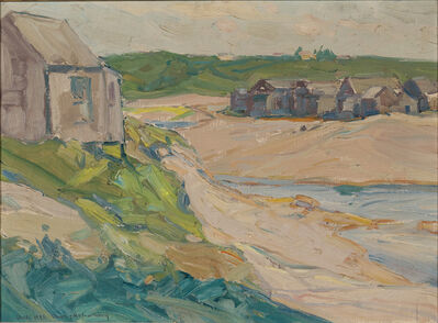 Charles Herbert Woodbury, 'Seascape with Cottages'