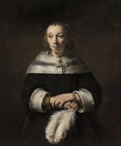 Rembrandt van Rijn, 'Portrait of a Lady with an Ostrich-Feather Fan', 1658-1660