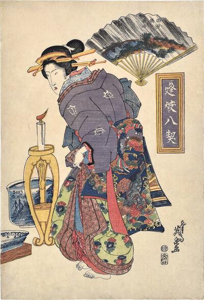 Keisai Eisen, 'signed Keisai Eisen ga, with censor's seal kiwame and publisher's seal Ue, Kawaguchi',  ca. 1820s